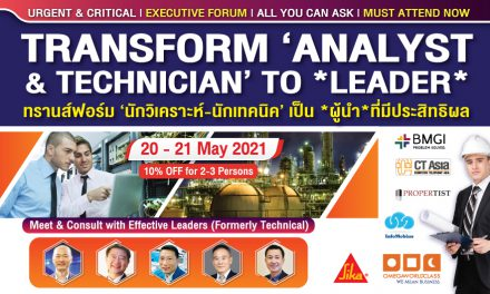 TRANSFORM ANALYST & TECHNICIAN TO LEADER   20 – 21 MAY 2021