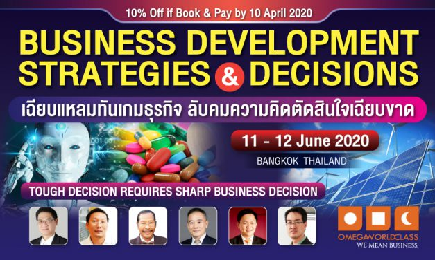 BUSINESS DEVELOPMENT STRATEGIES & DECISIONS | 11 – 12 JUNE 2020